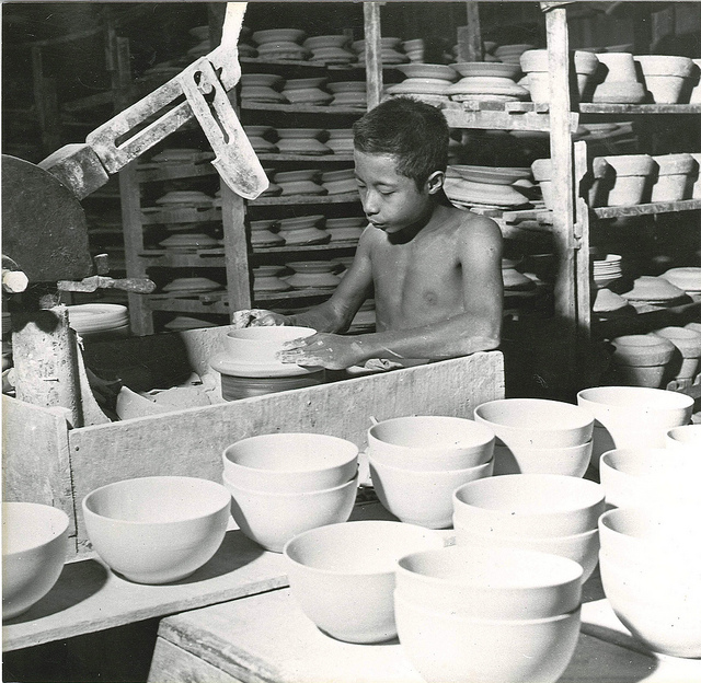 Burmese boy making pottery.  Photo by International Labour Organization, taken on October 17, 2013. Licensed under CC BY-NC-ND 3.0.