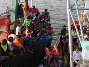 Migrant workers, mainly from Myanmar and Cambodia, are the main workforce for Thailand's fishing industry. Photo by International Labour Organization, taken on February 4, 2015. Licensed under CC BY-NC-ND 3.0.