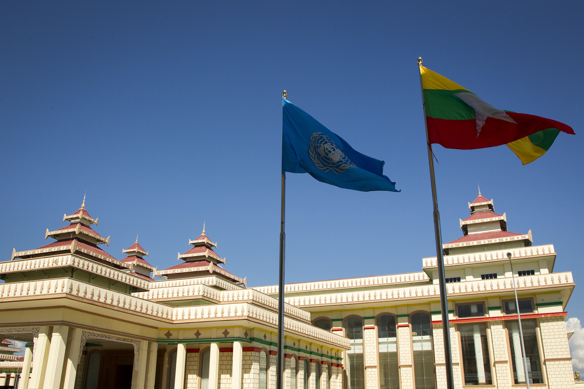 Parliament Building of Myanmar. Photo taken by UN Photo/Rick Bajornas on 13 November 2014.  (CC BY-NC-ND 2.0)